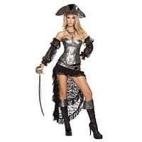 Sexy Mistress of the High Seas Pirate Halloween Costume