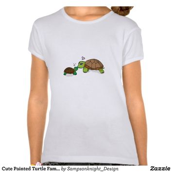 Cute Painted Turtle Family - Kids t-shirts from Zazzle.com