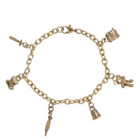 Disney Peter Pan Gold Charm Bracelet