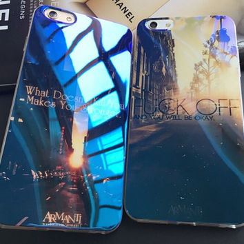 Morning and Evening in the City Cover for iPhone 7 7Plus & iPhone 6 6s Plus & iPhone 5s se Case +Gift Box-E06