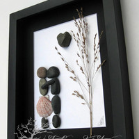 Pebble Art Couple's Gift -Couple's Home Decor -Unique Couple's Gift - Personalized Engagement Gift - Personalized COUPLE Gift - Wedding Gift