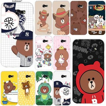 Cute Rilakkuma Bear Soft TPU Silicon Phone Cases Cover for Samsung Galaxy Note 2 3 4 5 8 S2 S3 S4 S5 Mini S6 S7 S8 S9 Edge Plus