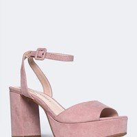Wedge Ankle Strap Sandal