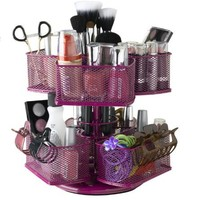 Nifty Cosmetic Organizing Carousel, Rose