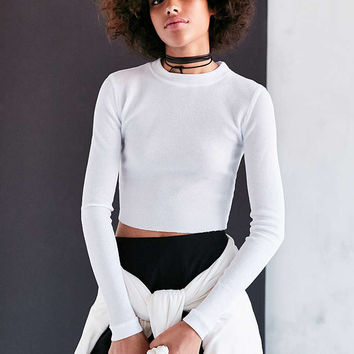 dda7e12cb8c Silence + Noise Beverly Thermal Crop Top from Urban Outfitters