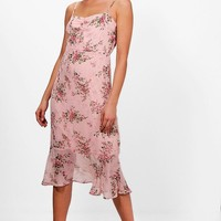 Boutique Ruby Ditsy Floral Midi Slip Dress | Boohoo