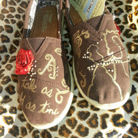 Great Chirstmas Gift !!!! Beauty and the Beast Disney Toms - Ready to ship!- Size Youth 2