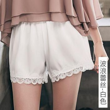Summer Women Lace Loose Shorts Trousers Pants _ 13478