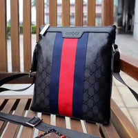 GUCCI MEN'S NEW STYLE LEATHER CROSS BODY BAG