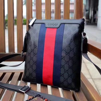 GUCCI MEN'S 2018 HOT STYLE LEATHER CROSS BODY BAG