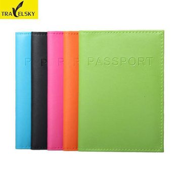 CREYCI7 Travelsky RFID passport holder RFID passport card protection PU leather 5colors tickets holder 1 pcs free shipping 13594