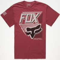 Fox Hasty Mens T-Shirt Burgundy  In Sizes