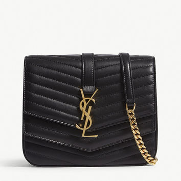 SAINT LAURENT Sulpice small quilted leather cross-body bag