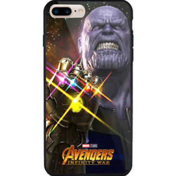 Thanos Marvel Avenger Movie iPhone Samsung 5 5s 6 6s 7 8 X Plus Edge Hard Case