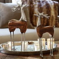 Wood and Metal Reindeer