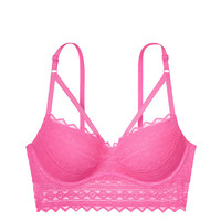 Strappy Front Push-up Bralette - PINK - Victoria's Secret
