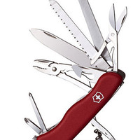 Victorinox Swiss Army WorkChamp Pocket Knife - Solid Red Case - Pliers