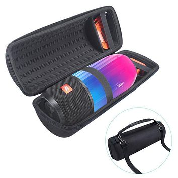Newest PU Carry Protective Speaker Box Pouch Cover Bag Case For JBL Pulse 3 Pulse3 Speaker-Extra Space for Plug&Cable(With Belt)