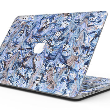 Abstract Wet Paint Blues - MacBook Pro with Retina Display Full-Coverage Skin Kit