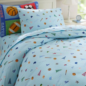 Olive Kids Game On Twin Duvet Cover - 76414