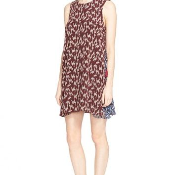 Women's Elizabeth and James 'Dayne' Print Silk Shift Dress,