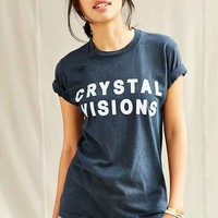 Urban Renewal Remade Crystal Visions Vintage Screen Printed Tee