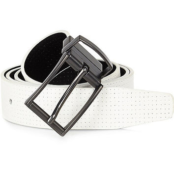 River Island MensWhite reversible perforated belt