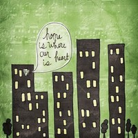 Home is where our heart is green by vol25 on Etsy