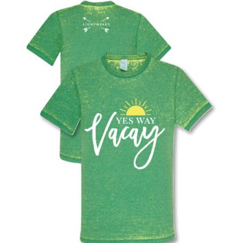 Southern Couture Lightheart Yes Way Vacay Vacation Triblend Front Print T-Shirt