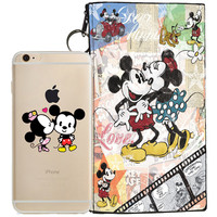 Disney's Mickey & Minnie Jelly Clear Case For Apple Iphone 6/6s PLUS + Pouch