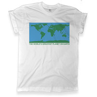 The World's Greatest Planet On Earth Graphic White T shirt | Unisex Graphic Tee | Melonkiss - (450)