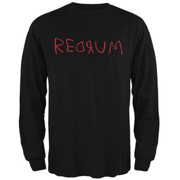 DCCKU3R Halloween Horror Redrum Black Adult Long Sleeve T-Shirt
