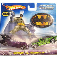 Hot Wheels DC Comics Batman vs The Riddler 1:64 Scale Die Cast Car 2 Pack Mattel