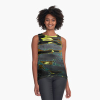 'Water colors' Contrast Tank by Mark&Roxana Designs