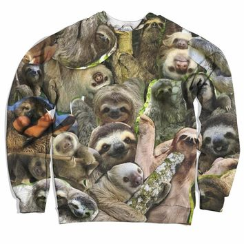 The Sloth Collage Sweater