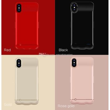 iPhone X 5200 mAh Battery Case Portable Phone Backup Rechargeable Extended Charger Case With Retail Package