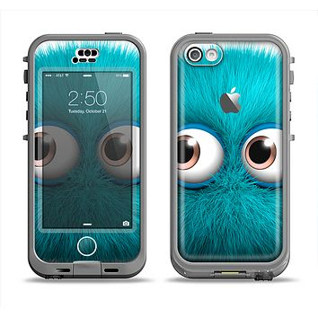 The Teal Fuzzy Wuzzy Apple iPhone 5c LifeProof Nuud Case Skin Set