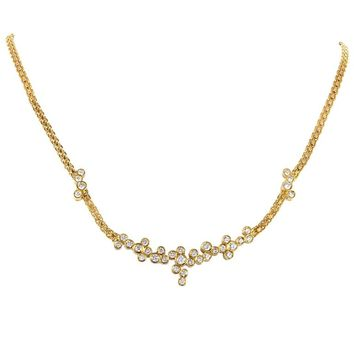 Dior Diamond Gold Cluster Necklace