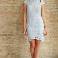Maura Lace Dress - Grey