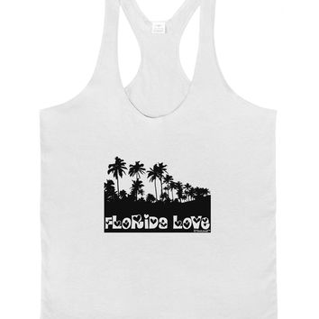 Florida Love - Palm Trees Cutout Design Mens String Tank Top by TooLoud
