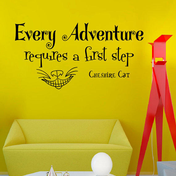 Cheshire Cat Alice In Wonderland Quotes: Wall Decals Alice In Wonderland Quote From WisdomDecals On
