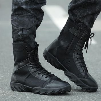 Military Outdoor Hiking Shoes Mountain Tactical Combat Boots ,Shoe Men For Walking Cli