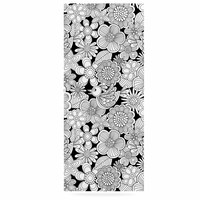 "Julia Grifol ""Welcome White Birds"" Black Floral Luxe Rectangle Panel"