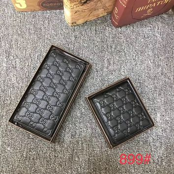 GUCCI MEN'S NEW TOP LEATHER WALLET