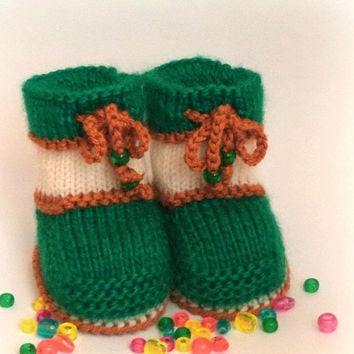 Knitted baby shoes, Knitted baby shoes Baby shoes Girl knitting booties, knitted baby shoes newborn infants Booty Shoes