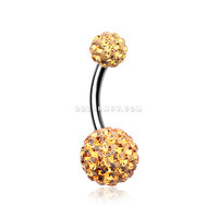 Classic Multi-Gem Sparkle Belly Ring (Topaz)