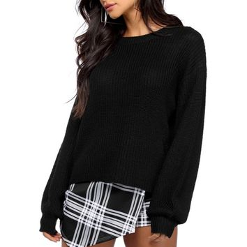 Black Sweater Basics Pullover