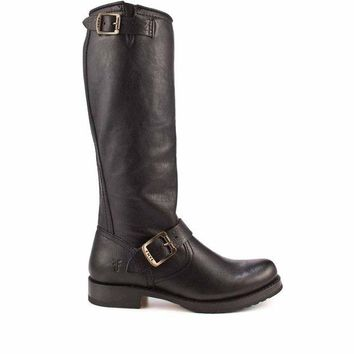 VONES2C Frye Boot Veronica- Slouch Black Knee-High