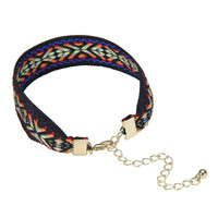 Multi-Color Geometric Bracelet with Metal