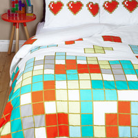 ModCloth Nifty Nerd Next Level Snoozing Duvet Cover in Full, Queen